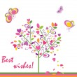 Best wishes! — Stock Vector