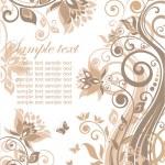 Beautiful greeting pastel card — Stock Vector