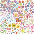 Flowers set - Stock Vector