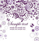 Violet floral card — Stock Vector