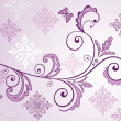 Lilac floral banner — Stock Vector #19805431