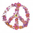 Peace flower symbol — Stock Vector #19805463