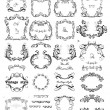 Set of vintage frames — Stock Vector #19805537
