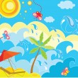 Stock Vector: Summer holiday background