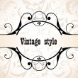 Stock Vector: Vintage title