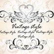Vintage header with swans — Stock Vector #19806091