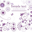 Vector de stock : Violet greeting card