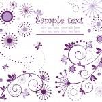 cartão violeta — Vetorial Stock