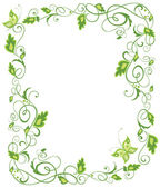 Floral green border — Stock Vector