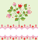 Greeting card with tree — Stock Vector