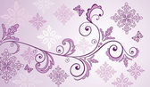 Lilac floral banner — Stock Vector