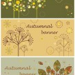 Autumnal banners — Stock Vector #19811211