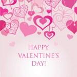 Valentine's seamless background — Stock Vector