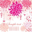 Beautiful greeting pink card — Stock Vector