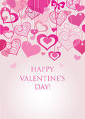 Valentine's seamless background — Vecteur