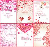 Banners dos namorados — Vetor de Stock