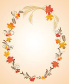 Cadre automne — Vecteur