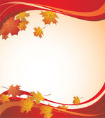 Autumnal banner — Stock Vector