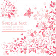 Greeting floral pink card — Stockvectorbeeld