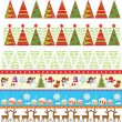 Seamless christmas borders — Vector de stock #19832517