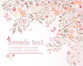 Floral-gruß-postkarte — Stockvektor