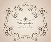 Vintage style — Stock Vector