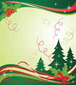 Xmas green banner — Stock Vector