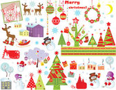 Xmas set — Stock Vector