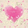 Beautiful greeting card with heart shape — Image vectorielle