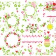 Royalty-Free Stock Vector Image: Floral design elements