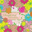 Greeting retro floral card — Stock Vector
