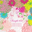 Vintage floral card — Stock Vector #19861545