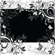 Floral card. Black and white — Stock Vector #19866233