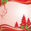 Xmas red banner — Stock Vector