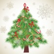 Stock Vector: Xmas tree