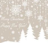 Christmas congratulations card — Stock Vector