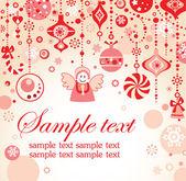 красный рождественские украшения — Cтоковый вектор