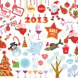 Vector de stock : Christmas set