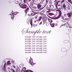 Violet floral banner — Stock Vector #19942101