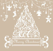 Christmas pastel greeting card — Stock Vector