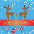 Greeting xmas card — Stock Vector