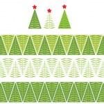 Seamless christmas border — Stock Vector