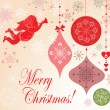 Xmas greeting card — Vettoriali Stock