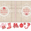 Xmas labels — Stock Vector