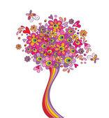 Greeting tree — Stock Vector