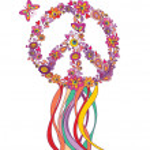 Hippie wreath — Stock Vector