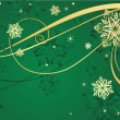 Christmas gold background — Vector de stock