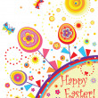 Easter greeting abstract card — Stock Vector