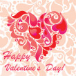 Greeting card for Valentine's Day — Imagen vectorial