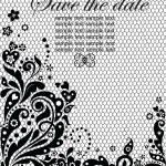 Lacy invitation (black and white) — Stock Vector #19988393